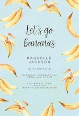 Bananas - Invitación De Cumpleaños