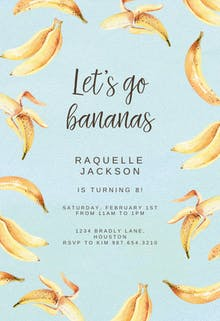 Bananas - Birthday Invitation