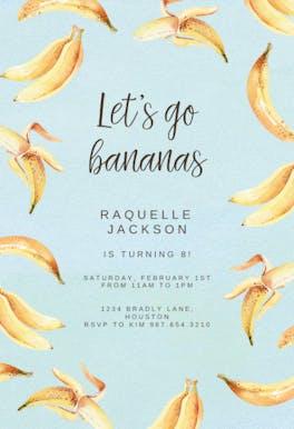 Bananas - invitation