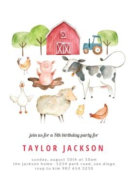 Barn - Birthday Invitation