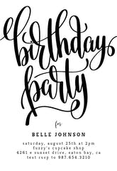 Birthday Party - Birthday Invitation