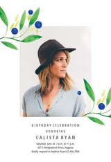 Blueberry fields - Birthday Invitation