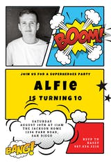 Boom Bang - Birthday Invitation