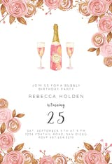 Brunch Bubbly - Birthday Invitation