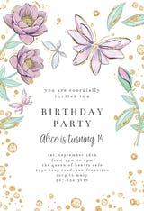 Butterflies in blossom - Birthday Invitation