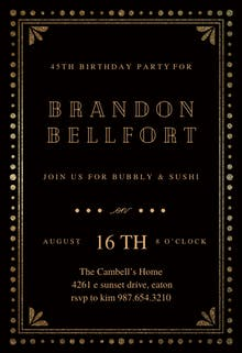 Fancy night - Birthday Invitation Template