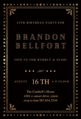 Fancy night - Birthday Invitation