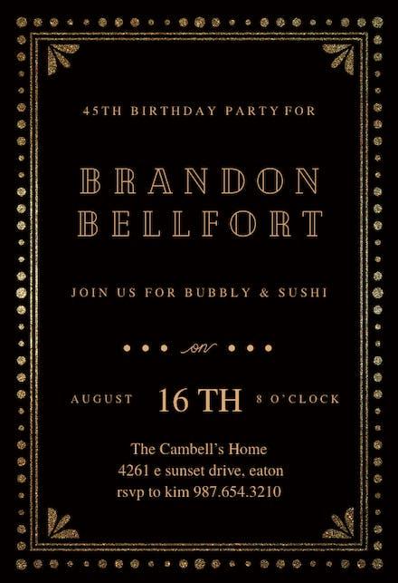 Birthday Invitation Templates For Him Free