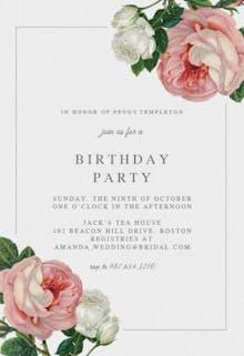 Classic Roses - Birthday Invitation