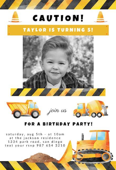 Invitaciones Para Cumpleaños De Niños Gratis Greetings Island