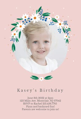 Daisy - Birthday Invitation