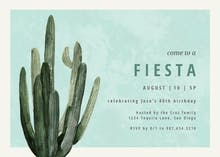 Desert cactus - Birthday Invitation