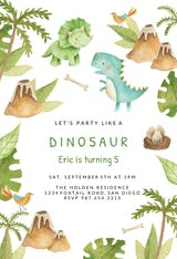 Dino adventure - Birthday Invitation