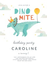 Dinomite - Birthday Invitation