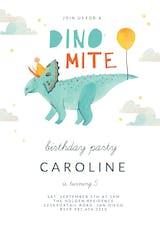 Dinomite - Invitación De Cumpleaños