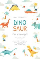 Dinosaur adventure - Invitación De Cumpleaños