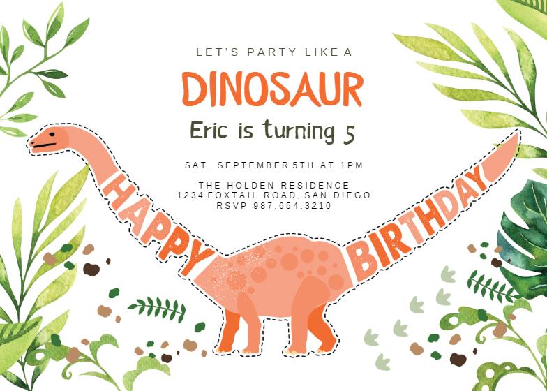 picture about Free Printable Dinosaur Birthday Invitations identified as Dinosaur birthday - Birthday Invitation Template (absolutely free