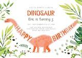 Dinosaur birthday - Invitación De Cumpleaños