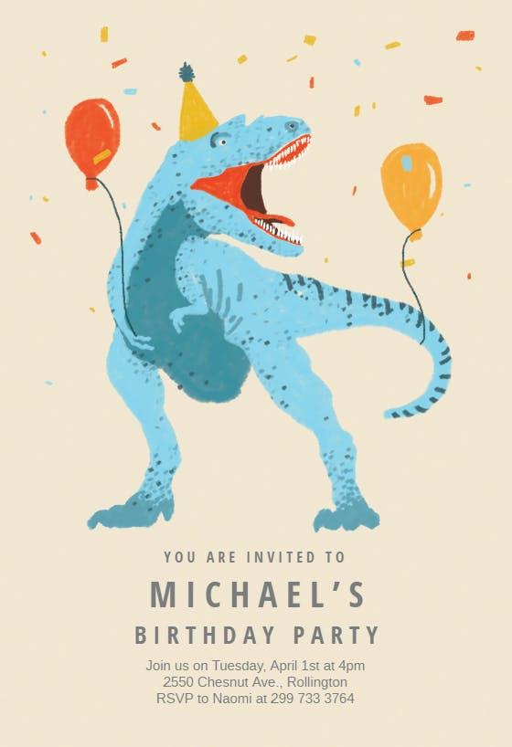 Dinosaur Birthday Invitation Template Free Greetings Island