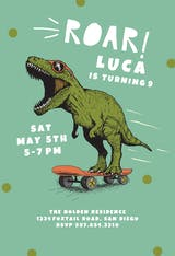 Dinosaur so cool - Birthday Invitation