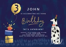 Dog Years - Birthday Invitation