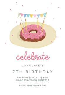 Donut Fiesta - Birthday Invitation