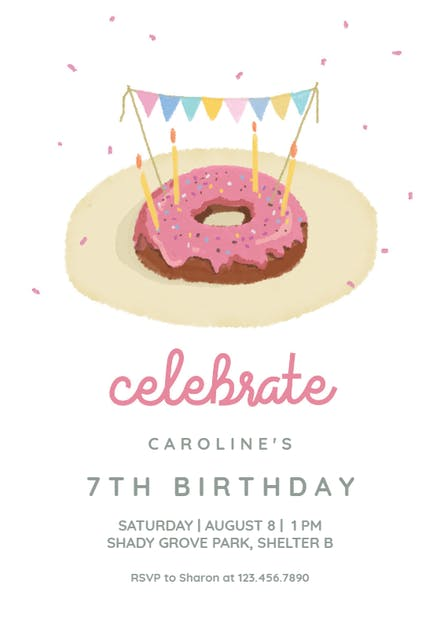 Donut Party Invitation Template Free 7