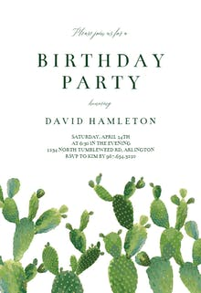 Invitation Template - Elegant Cactus