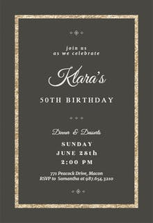 Elegant Gold - Birthday Invitation