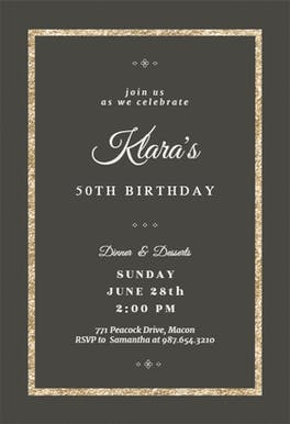 Elegant Gold - invitation