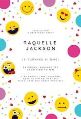 Emoji Confetti - Birthday Invitation
