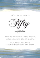 Fabulous - Birthday Invitation