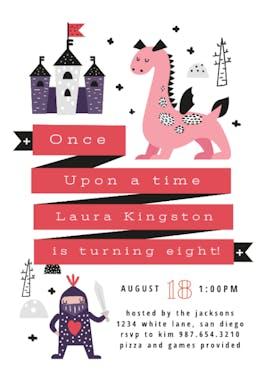 Fairy Tale Party - Birthday Invitation