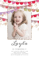 Fiesta flags photo - Birthday Invitation