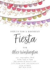 Fiesta flags - Birthday Invitation