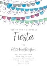 Fiesta flags - Birthday Invitation