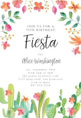 Flowerly Fiesta - Birthday Invitation
