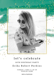 Fresh & Fancy - Birthday Invitation