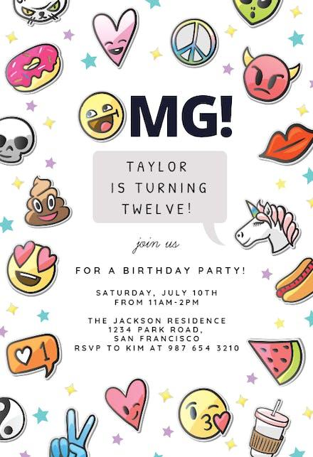 Invitaciones De Cumpleaños Para Niña Gratis Greetings Island