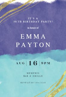 Happy color strokes - Birthday Invitation Template