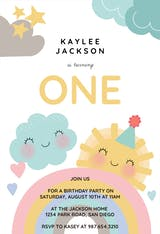 Happy Rainbow - Birthday Invitation