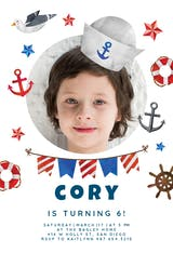 Happy sailor - Birthday Invitation