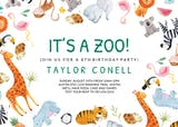 Its A Zoo - Birthday Invitation