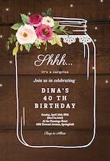 Jar of happines - Birthday Invitation