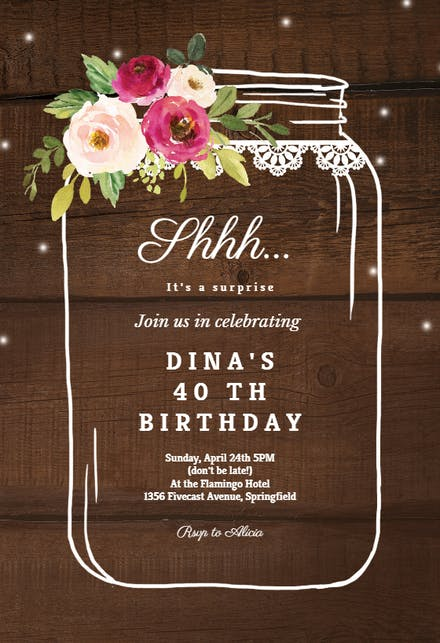 Birthday Invitation Templates For Her Free