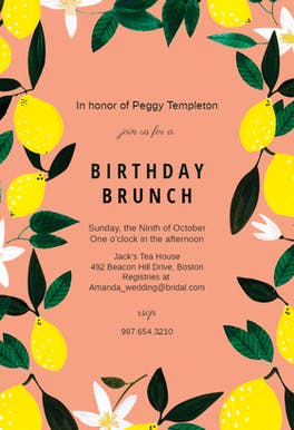 Lemons - Party Invitation