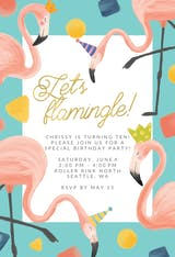 Let's flamingle bday - Invitación De Cumpleaños