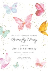 Magical butterflies - Birthday Invitation