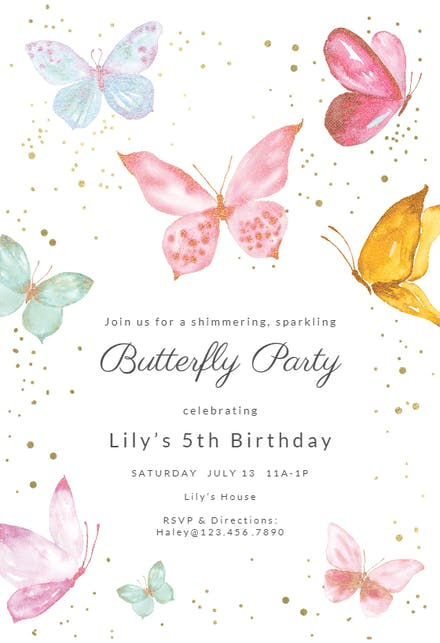 Butterfly Invitation Templates (Free) | Greetings Island