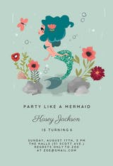Mermaid - Birthday Invitation